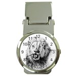 Lion Wildlife Art And Illustration Pencil Money Clip Watches