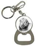 Lion Wildlife Art And Illustration Pencil Button Necklaces