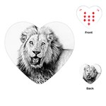 Lion Wildlife Art And Illustration Pencil Playing Cards (Heart)