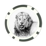 Lion Wildlife Art And Illustration Pencil Poker Chip Card Guard