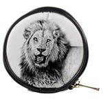 Lion Wildlife Art And Illustration Pencil Mini Makeup Bags