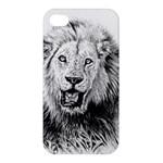 Lion Wildlife Art And Illustration Pencil Apple iPhone 4/4S Premium Hardshell Case