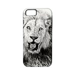 Lion Wildlife Art And Illustration Pencil Apple iPhone 5 Classic Hardshell Case (PC+Silicone)