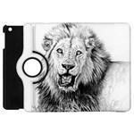 Lion Wildlife Art And Illustration Pencil Apple iPad Mini Flip 360 Case