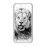 Lion Wildlife Art And Illustration Pencil Apple iPhone 5C Seamless Case (White)