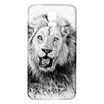 Lion Wildlife Art And Illustration Pencil Samsung Galaxy S5 Back Case (White)