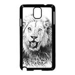 Lion Wildlife Art And Illustration Pencil Samsung Galaxy Note 3 Neo Hardshell Case (Black)