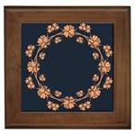 Floral Vintage Royal Frame Pattern Framed Tiles