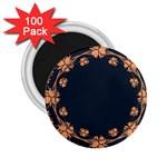 Floral Vintage Royal Frame Pattern 2.25  Magnets (100 pack)