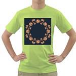 Floral Vintage Royal Frame Pattern Green T-Shirt