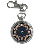 Floral Vintage Royal Frame Pattern Key Chain Watches