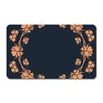 Floral Vintage Royal Frame Pattern Magnet (Rectangular)