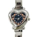 Floral Vintage Royal Frame Pattern Heart Italian Charm Watch