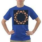 Floral Vintage Royal Frame Pattern Dark T-Shirt