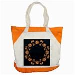 Floral Vintage Royal Frame Pattern Accent Tote Bag