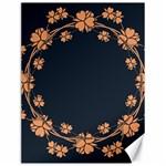 Floral Vintage Royal Frame Pattern Canvas 12  x 16