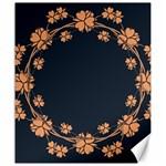 Floral Vintage Royal Frame Pattern Canvas 20  x 24