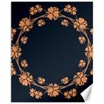 Floral Vintage Royal Frame Pattern Canvas 11  x 14