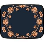 Floral Vintage Royal Frame Pattern Double Sided Fleece Blanket (Mini)