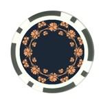 Floral Vintage Royal Frame Pattern Poker Chip Card Guard (10 pack)