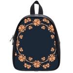 Floral Vintage Royal Frame Pattern School Bag (Small)