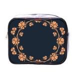Floral Vintage Royal Frame Pattern Mini Toiletries Bags