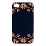 Floral Vintage Royal Frame Pattern Apple iPhone 4/4S Premium Hardshell Case