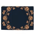 Floral Vintage Royal Frame Pattern Cosmetic Bag (XXL)