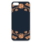 Floral Vintage Royal Frame Pattern Apple Seamless iPhone 5 Case (Clear)