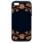 Floral Vintage Royal Frame Pattern Apple iPhone 5 Hardshell Case (PC+Silicone)