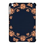 Floral Vintage Royal Frame Pattern Apple iPad Mini Hardshell Case (Compatible with Smart Cover)