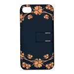 Floral Vintage Royal Frame Pattern Apple iPhone 4/4S Hardshell Case with Stand