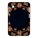 Floral Vintage Royal Frame Pattern Samsung Galaxy Tab 2 (7 ) P3100 Hardshell Case