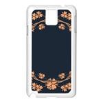 Floral Vintage Royal Frame Pattern Samsung Galaxy Note 3 N9005 Case (White)