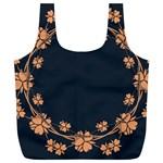 Floral Vintage Royal Frame Pattern Full Print Recycle Bags (L)