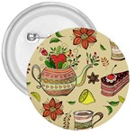 Colored Afternoon Tea Pattern 3  Buttons