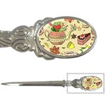 Colored Afternoon Tea Pattern Letter Openers