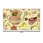 Colored Afternoon Tea Pattern Business Card Holders