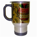 Colored Afternoon Tea Pattern Travel Mug (Silver Gray)