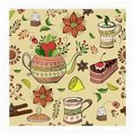 Colored Afternoon Tea Pattern Medium Glasses Cloth (2-Side)
