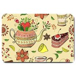 Colored Afternoon Tea Pattern Large Doormat