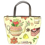 Colored Afternoon Tea Pattern Bucket Bags