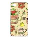 Colored Afternoon Tea Pattern Apple iPhone 4/4s Seamless Case (Black)