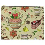 Colored Afternoon Tea Pattern Cosmetic Bag (XXXL)
