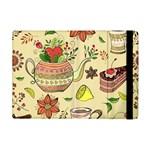 Colored Afternoon Tea Pattern Apple iPad Mini Flip Case