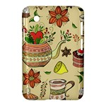 Colored Afternoon Tea Pattern Samsung Galaxy Tab 2 (7 ) P3100 Hardshell Case