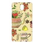 Colored Afternoon Tea Pattern Samsung Galaxy Note 3 N9005 Hardshell Back Case