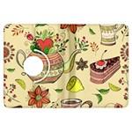 Colored Afternoon Tea Pattern Kindle Fire HDX Flip 360 Case