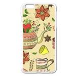 Colored Afternoon Tea Pattern Apple iPhone 6 Plus/6S Plus Enamel White Case