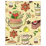 Colored Afternoon Tea Pattern Drawstring Bag (Small)